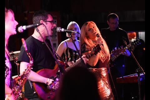 Howard Kennedy band Take it to the Bridge play Law Rocks 100 Club